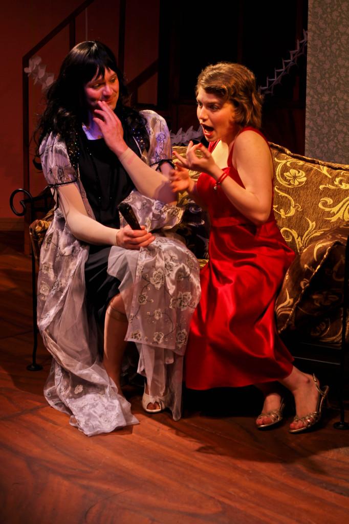 Maxine (Jeremy Bryan) and Meg (Jordan Marett) develop a close friendship in Leading Ladies.